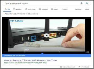 Видимость Видео YouTube имеют преимущественное влияние на результаты поиска.